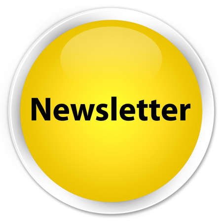 Newsletter glossy yellow button photo