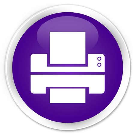 toner: Printer icon glossy purple button