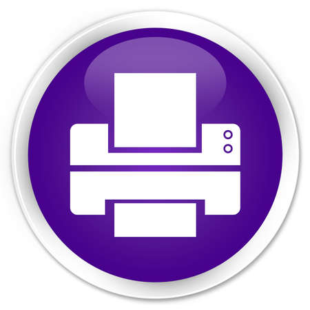 multifunction printer: Printer icon glossy purple button
