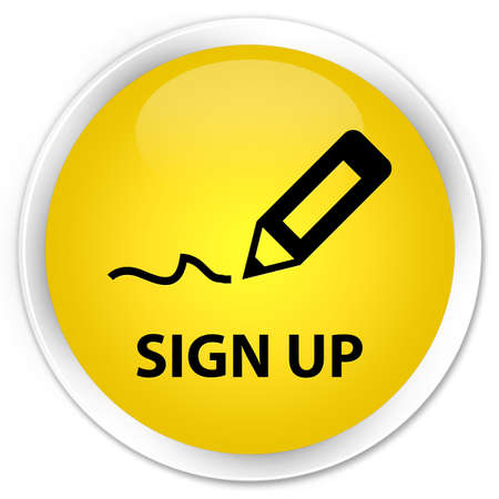 registry: Sign up glossy yellow button