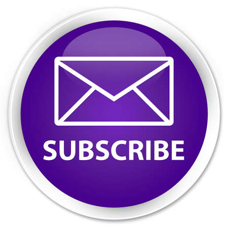 Subscribe glossy purple button photo