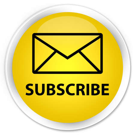 Subscribe glossy yellow button photo