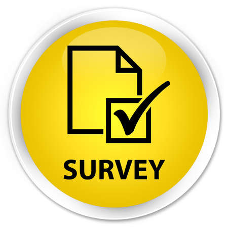 Survey  checklist icon  glossy yellow button photo