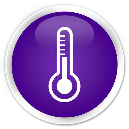 Thermometer icon glossy purple button photo