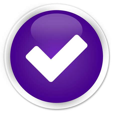 validation: Validation icon glossy purple button