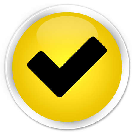 validation: Validation icon glossy yellow button