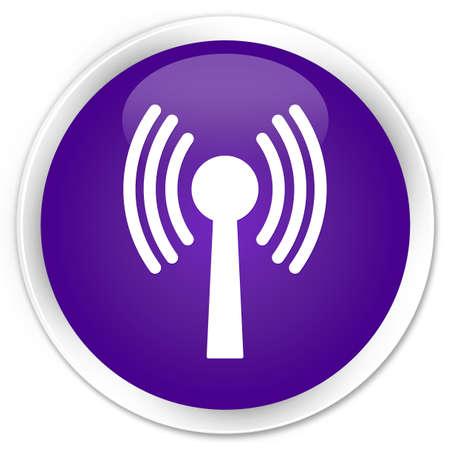 wlan: Wlan network icon glossy purple button