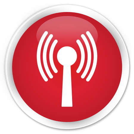 wlan: Wlan network icon glossy red button