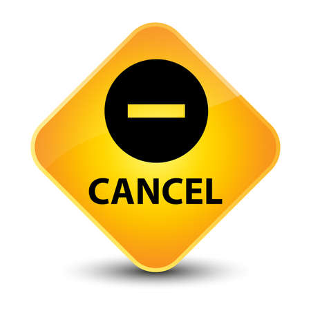 cancellation: Cancel yellow diamond button