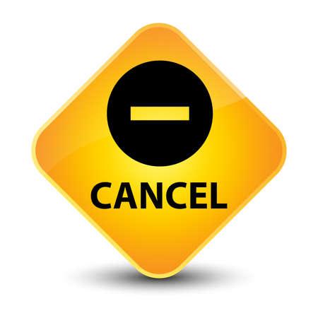 Cancel yellow diamond button