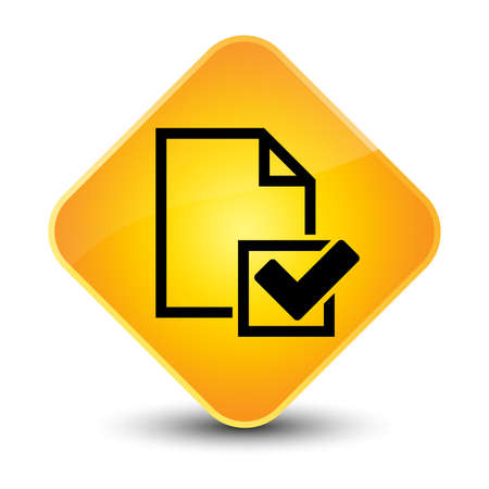 Checklist icon yellow diamond button photo