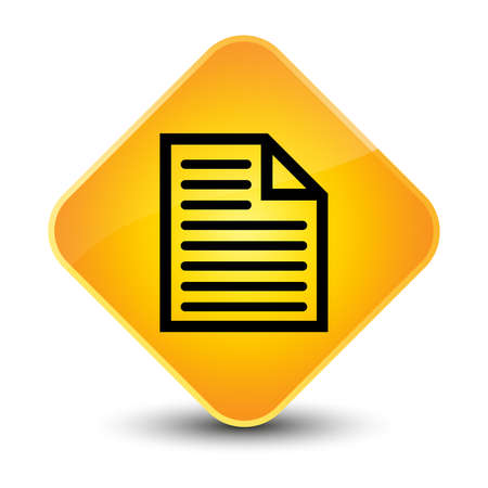 Document page icon yellow diamond button photo