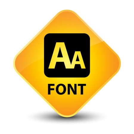 small size: Font yellow diamond button