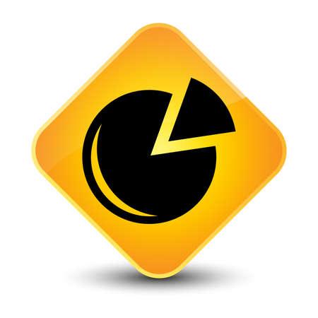 Graph icon yellow diamond button photo