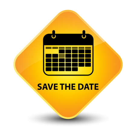 Save the date yellow diamond button