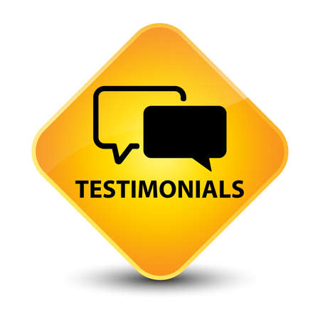 testimonials: Testimonials yellow diamond button