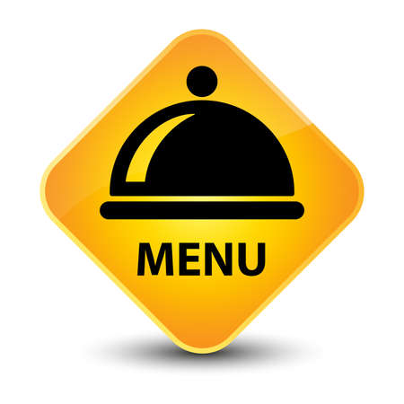 Menu yellow diamond button photo