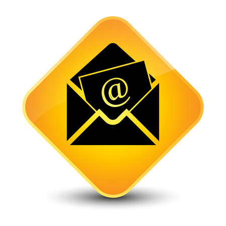 Newsletter icon yellow diamond button photo