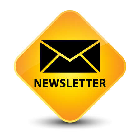 Newsletter yellow diamond button photo