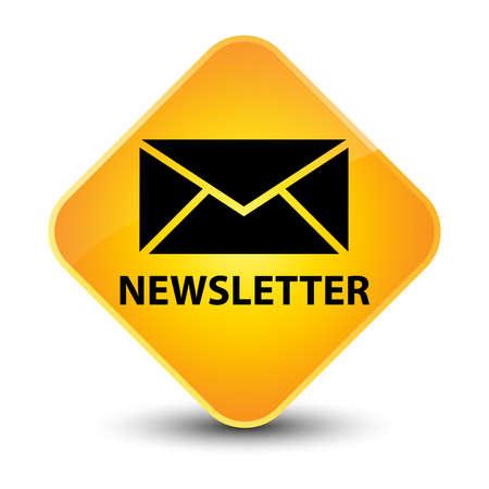 Newsletter yellow diamond button