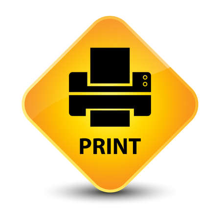 multifunction printer: Print yellow diamond button Stock Photo