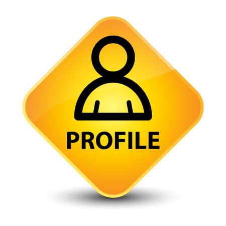 Profile yellow diamond button photo