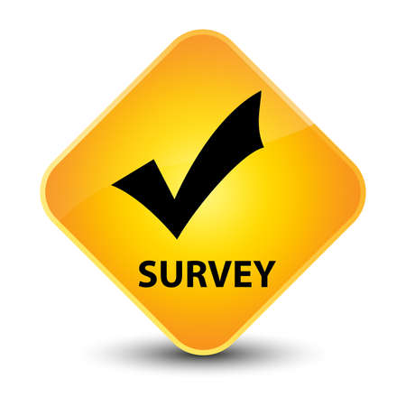 Survey yellow diamond button photo