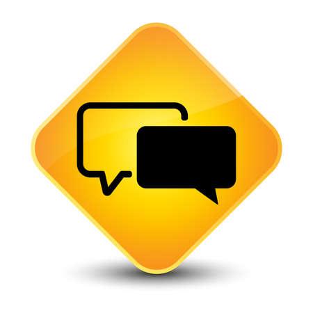 authenticate: Testimonials icon yellow diamond button