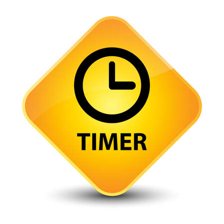 Timer yellow diamond button photo