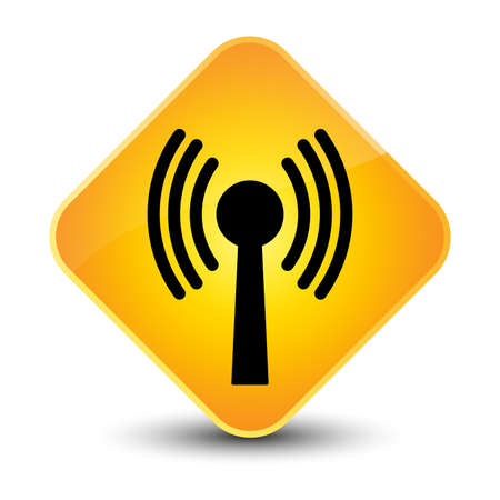 wlan: Wlan network icon yellow diamond button