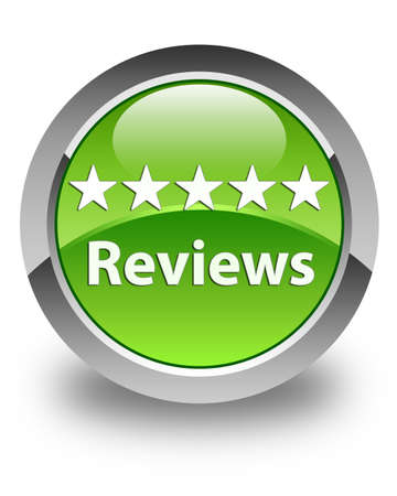 a round of inspection: Reviews glossy green round button