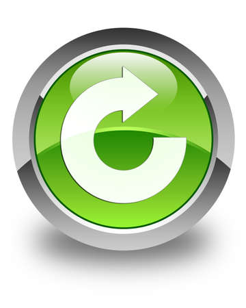 reply: Reply arrow icon glossy green round button