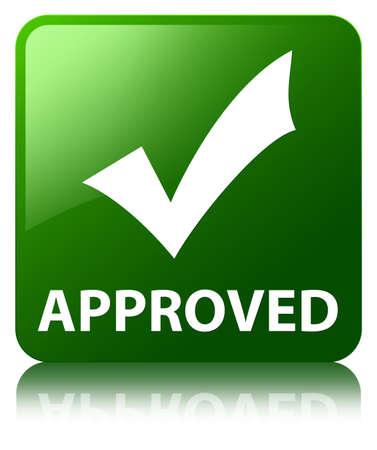 valider: Approuv� (valider ic�ne) de bouton carr� vert