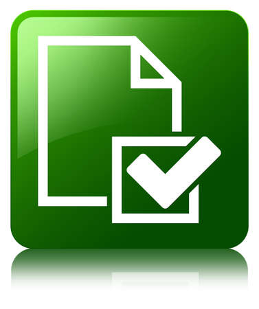 Checklist icon green square button photo