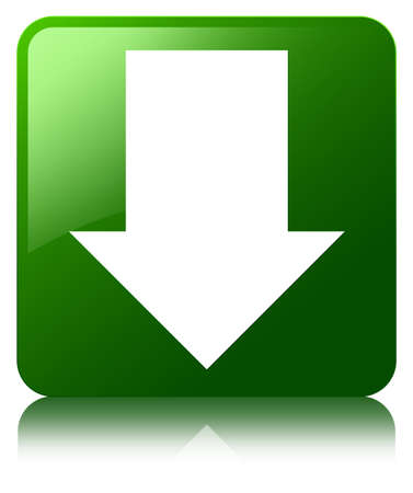 Download arrow icon green square button photo