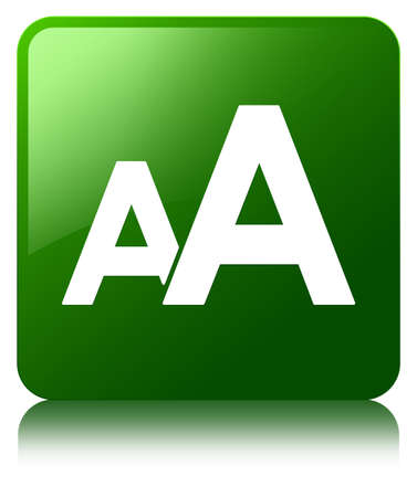 big size: Font size icon green square button Stock Photo