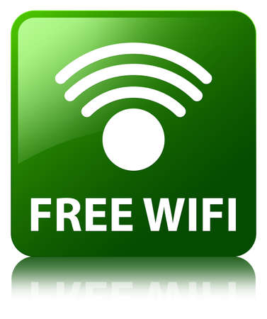 wlan: Free wireless network green square button