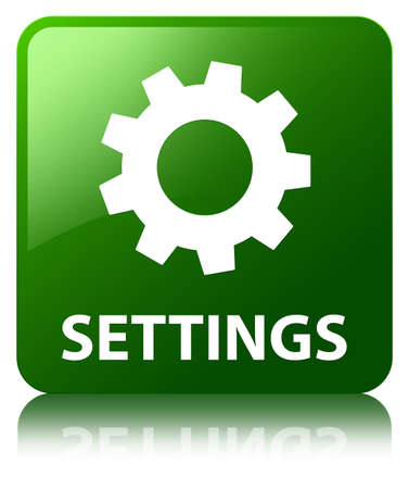 preference: Settings green square button