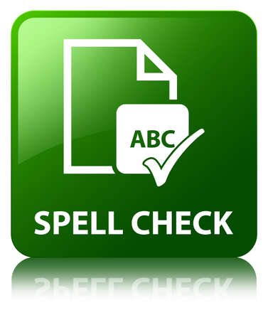 spell: Spell check (document icon) green square button