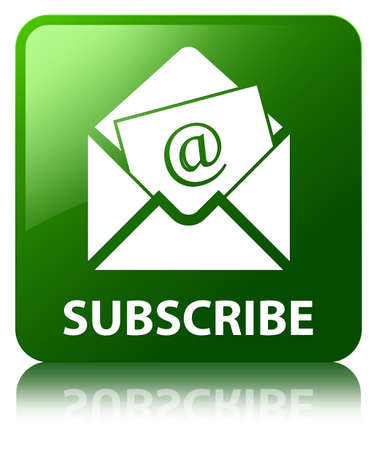 Subscribe (newsletter email icon) green square button photo