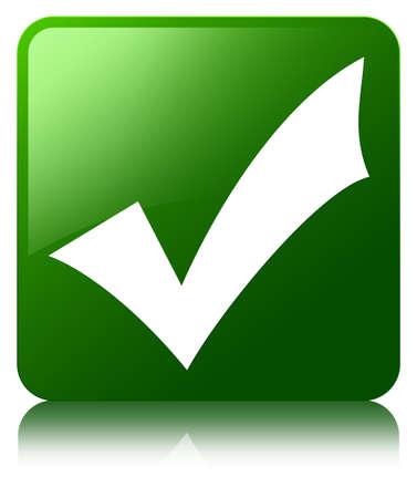 valid: Validate icon green square button