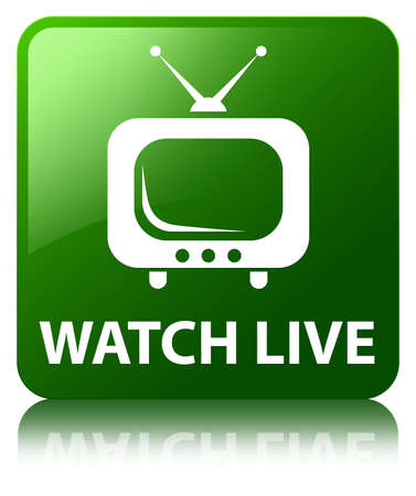 Watch live green square button photo