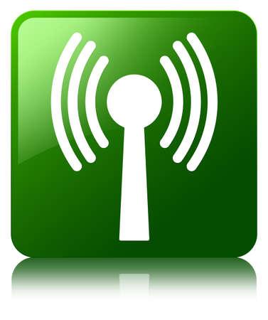 wlan: Wlan network icon green square button