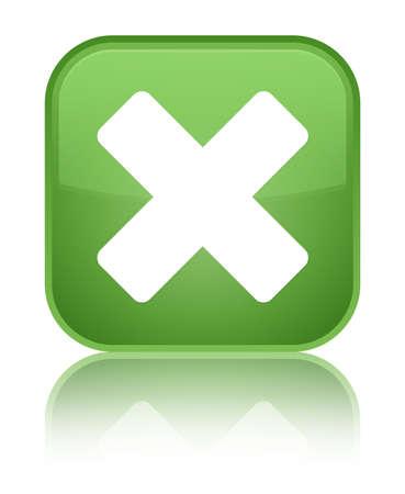 Cancel icon green square button photo