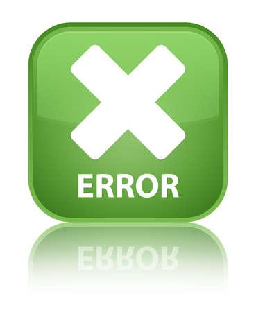 Error green square button photo