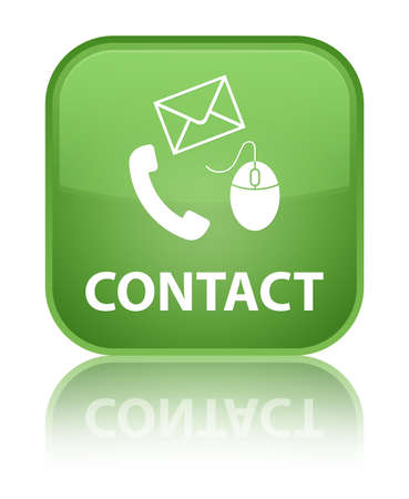 Contact green square button photo