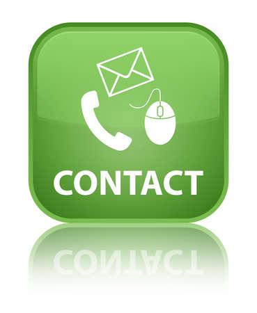 Contact green square button photo