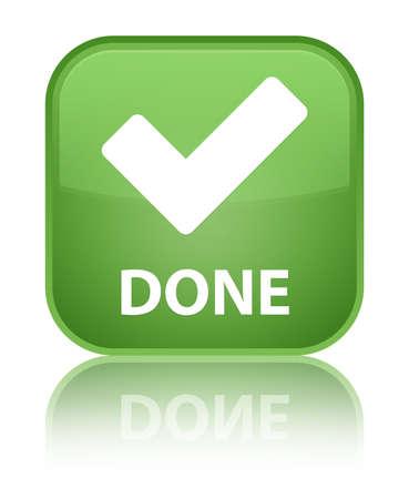 Done (validation icon) green square button photo