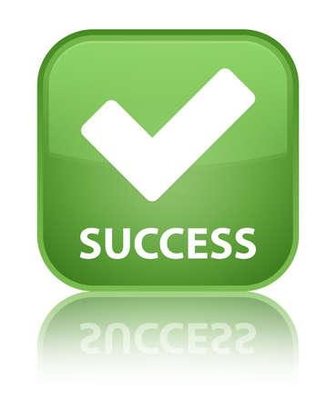 validation: Success (validation icon) green square button Stock Photo