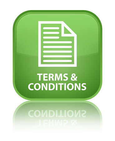 Terms and conditions green square button
